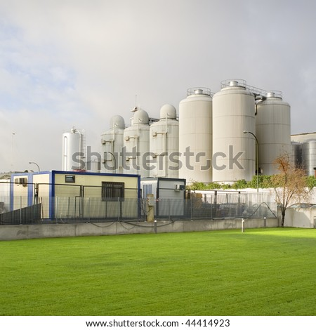 General view of industrial equipment. - stock photo
