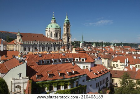 General view of Mala Strana - the romantic part of Prague (Czech Republic)