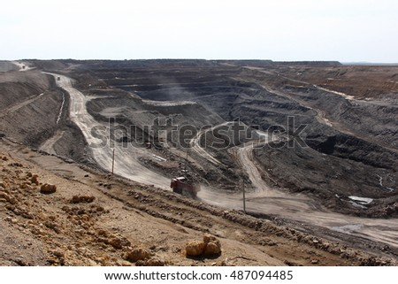 general view of ore extraction