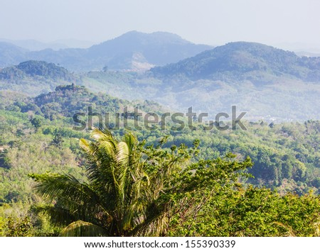 general view of the island Phuket Thailand - stock photo
