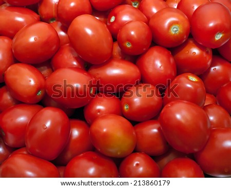 General view of the tomato red oval - stock photo