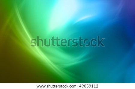 Generated abstract green-blue background - stock photo