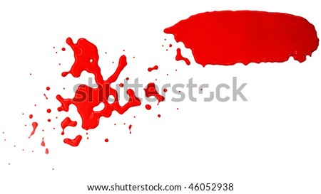 generated blood spots on the floor in hospital - stock photo