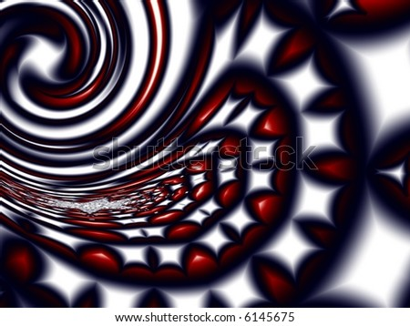 Generated fractal graphic - Mosaic in spiral