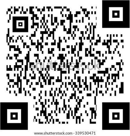 generated sample qr code isolated