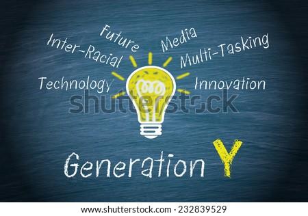 Generation Y - stock photo