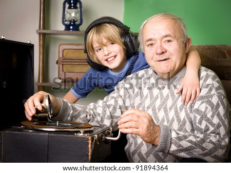 generations compared - stock photo