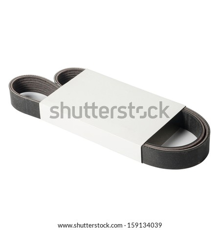 Generator Belt Car in Packaging Isolated On White - stock photo