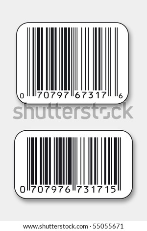 Generic bar codes - stock photo