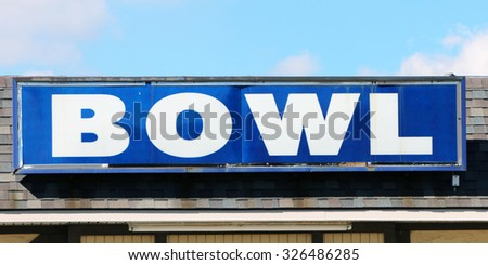 """Generic """"bowl"""" sign on an old building. - stock photo"""