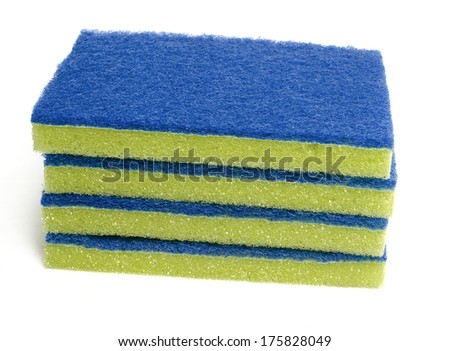 Generic brittle scrub pad for cleaning dirty surfaces - stock photo