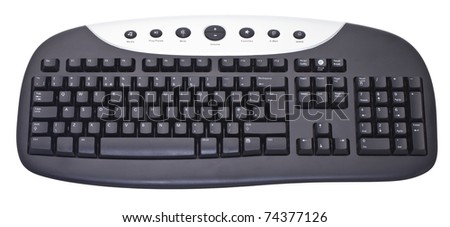 Generic computer keyboard isolated against a white background - stock photo