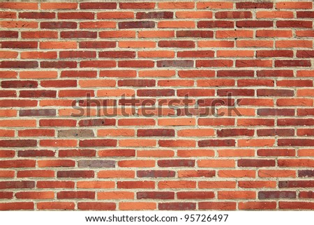 generic modern red brick wall background - stock photo