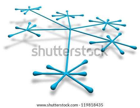 Generic networking concept - stock photo
