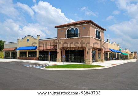 Generic New Shopping Center - stock photo