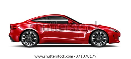 Generic red car - side view