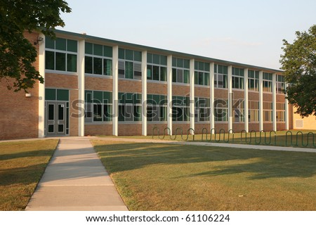 Generic school building - stock photo