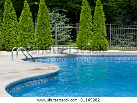 Pool fence stock images royalty free images vectors shutterstock for Swimming pool diving board paint kit