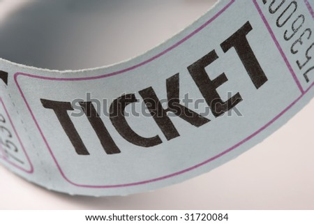 Generic Ticket on a White Background - stock photo