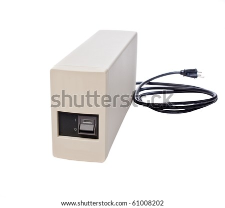 Generic UPS Isolated on a White Background. - stock photo