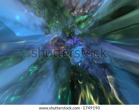 Genesis of clusters of precious materials - stock photo