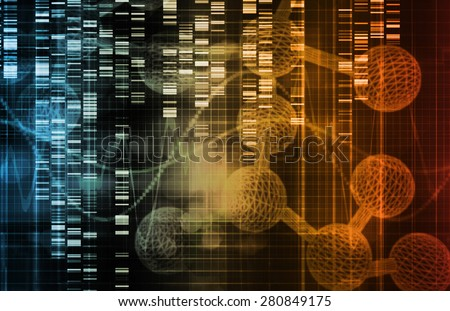 Genetic Engineering as a Science Concept Art - stock photo
