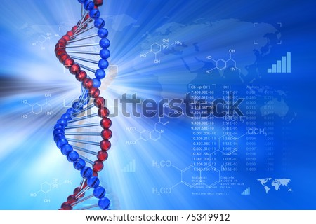 Genetic engineering scientific concept - stock photo