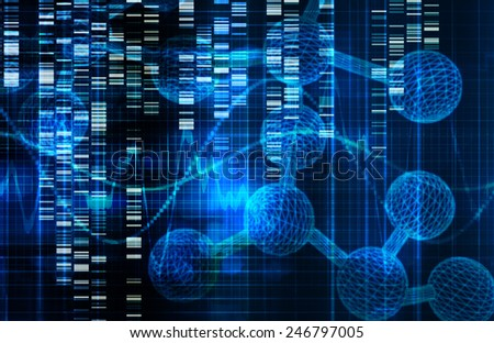 Genetic Science Research as a Medical Abstract Art - stock photo