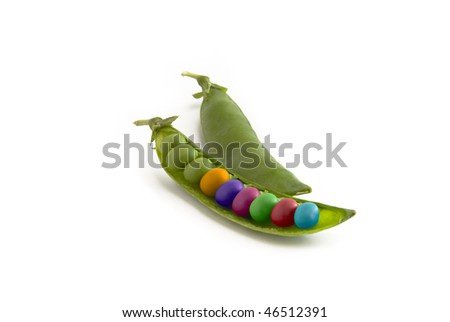 Genetically modified colorful peas - stock photo