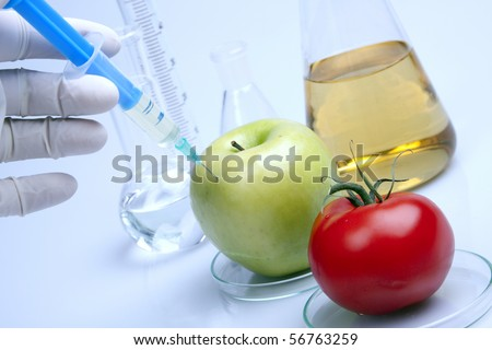 Genetically modified food - stock photo