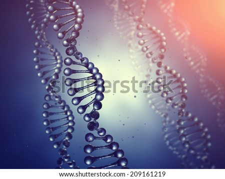 Genetics , Double helix Dna molecules concept , Genetic engineering - stock photo