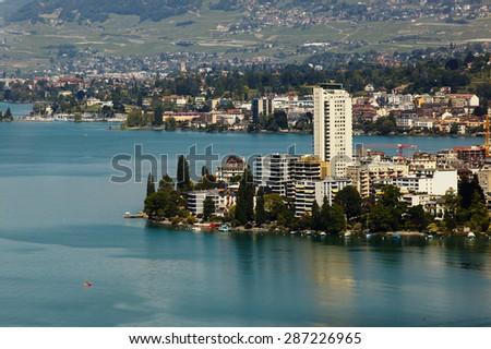 Geneva lake view - stock photo