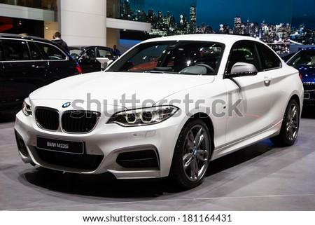 GENEVA, MAR 4: BMW M235i, presented at the 84th International Motor Show in Geneva, Switzerland on March 4, 2014. - stock photo