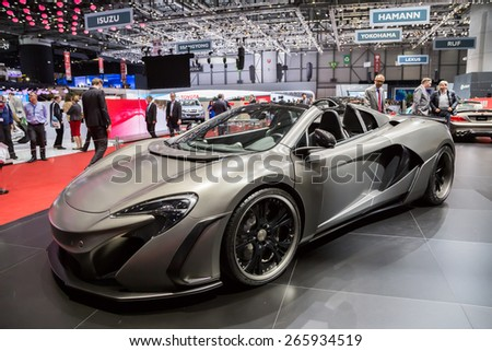 GENEVA, MAR 3: FAB Design car, presented at the 85th International Motor Show in Geneva, Switzerland on March 3, 2015. - stock photo