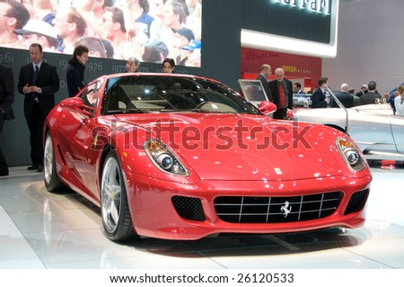 GENEVA, MAR 4: Ferrari 599 GTB displayed at the 79th Geneva Motor Show, in Swtizerland on March 4, 2009.