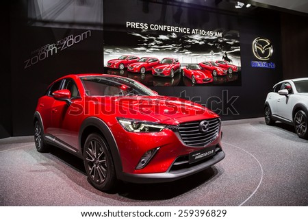 GENEVA, MAR 3: Mazda CX-3, presented at the 85th International Motor Show in Geneva, Switzerland on March 3, 2015. - stock photo
