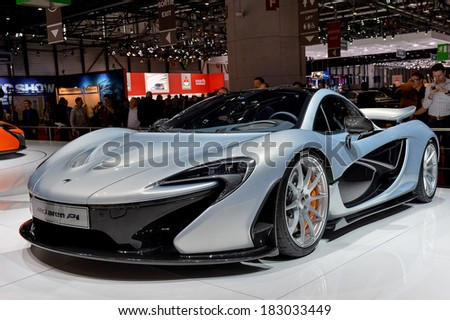 GENEVA, MAR 4: McLaren PI, displayed at the 84th International Motor Show International Motor Show in Geneva, Switzerland on March 4, 2014. - stock photo