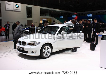 Geneva March 3 Bmw Active E Car Stock Photo Royalty Free 72540466