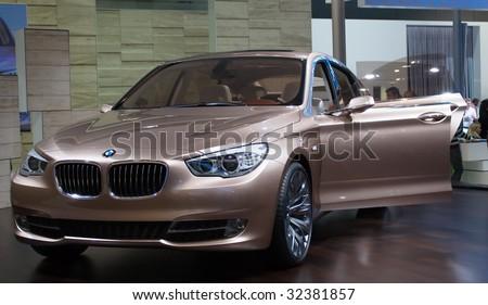 GENEVA - MARCH 7 : BMW car on display at 79th International Motor Show Palexpo-Geneva on March 07, 2009 in Geneva, Switzerland - stock photo