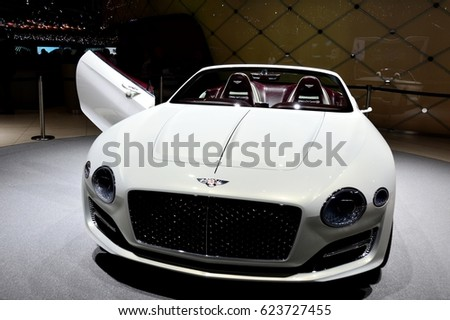 GENEVA, SWITZERLAND - MARCH 18, 2017:  Bentley EXP12 Speed 6e Concept at 87th Geneva International Motor Show