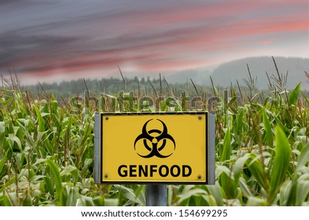 genfood corn sign - stock photo