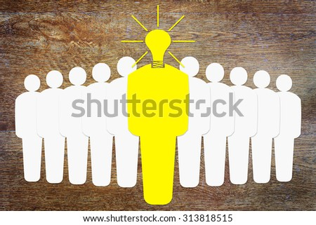 Genius leader of the unified team. Abstract conceptual image - stock photo