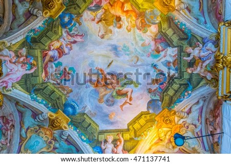 ceiling painting stock images royalty free images vectors shutterstock. Black Bedroom Furniture Sets. Home Design Ideas