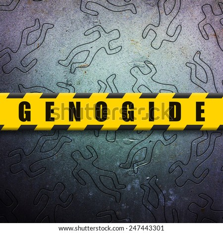 Genocide - stock photo