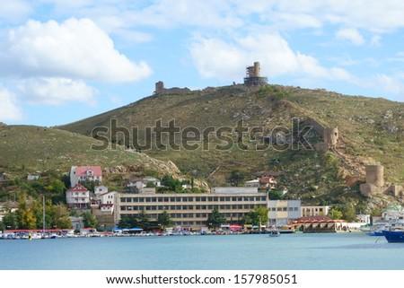 Genoese Fortress Cembalo. Balaklava. Crimea. Ukraine. - stock photo
