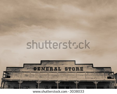 Genral Store in The Wild West of Arizona - stock photo