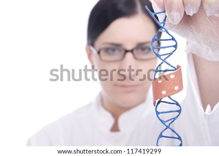 Gentechnik - stock photo