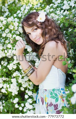 Gentle princess - stock photo