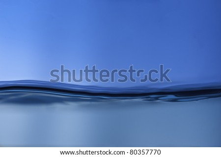 Gentle water wave in blue background