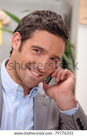 gentleman giving a phone call